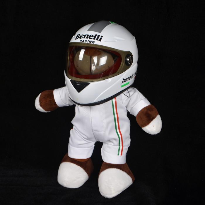 Игрушка с мотошлемом Benelli белый