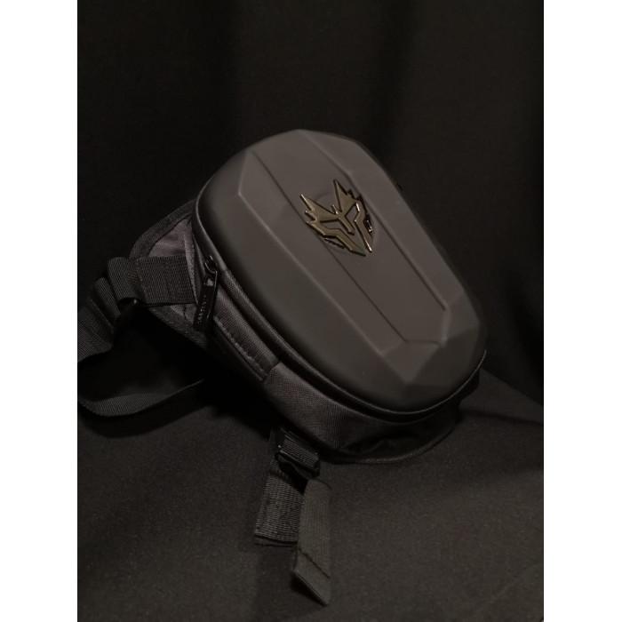 Мото сумка набедренная JIASPEED HARD SHELL черный матовый