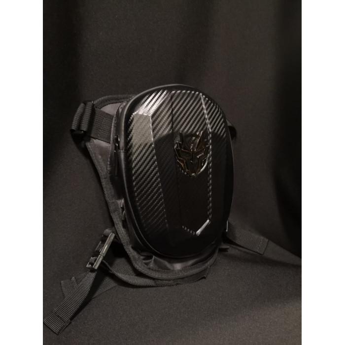 Мото сумка набедренная JIASPEED HARD SHELL карбон