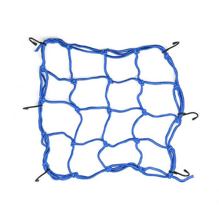 Сетка багажная паук 40 на 40 см (синяя)