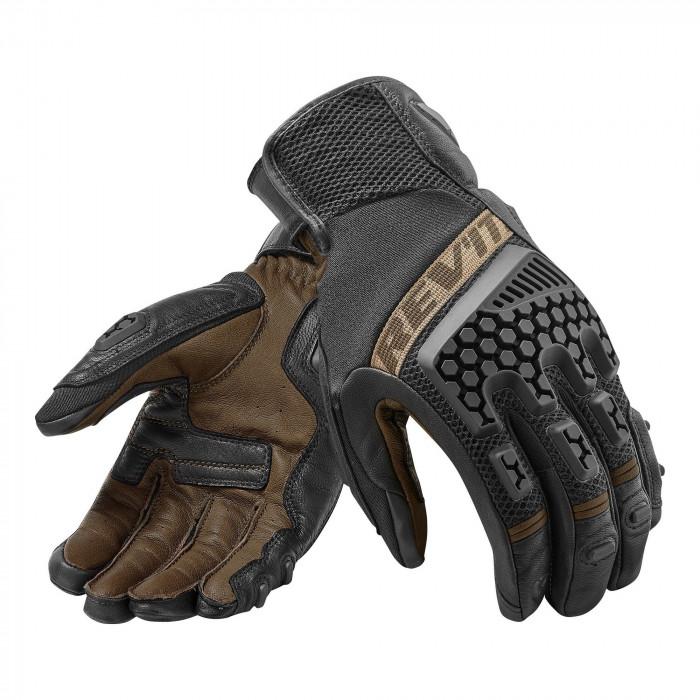 Мотоперчатки REVIT SAND 3 комбинированные черный/коричневый