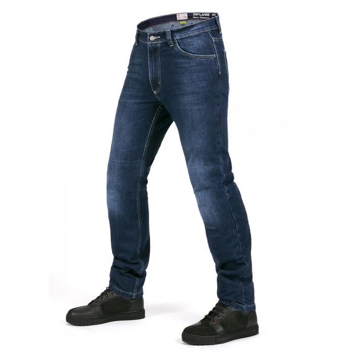 Мотоджинсы мужские INFLAME NEW CLASSIC с арамидом синие