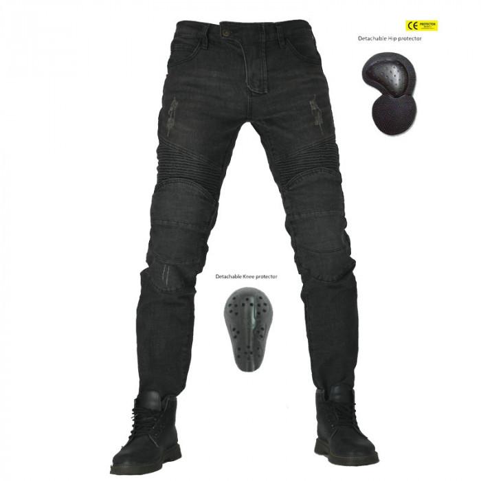 Мотоджинсы с защитой VOLERO SLIM черные