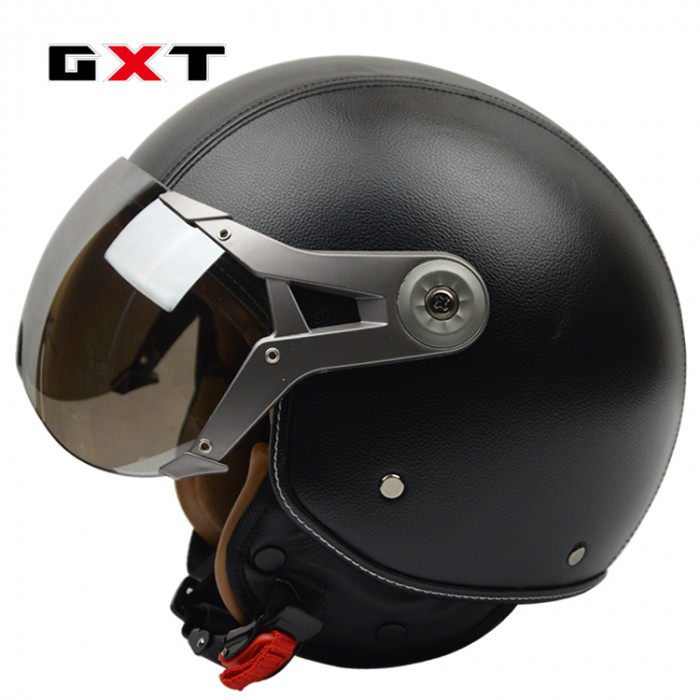 МотоШлем  GXT G288 открытый черный