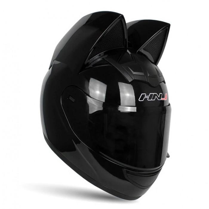 Шлем с ушками кошки HNJ CAT черный