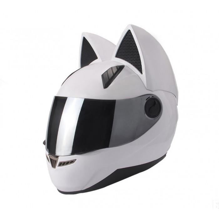 Шлем с ушками Nitrinos Neko белый