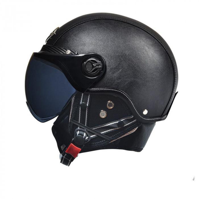 Мото шлем MOTOR AD CLASSIC 3/4 черный